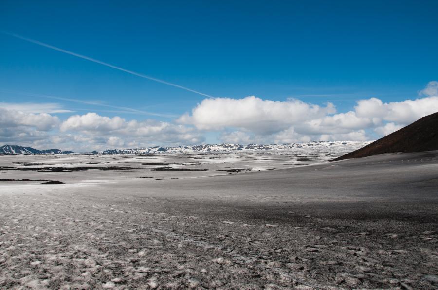 Kaldera Askji pod sněhem