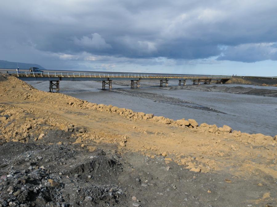 Provizorní most přes Múlakvísl